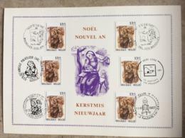2269 (6x Noël & Nouvel An 1987) 6 Cachets Diff : Gosselies - Soignies - Nazareth - Arendonk - Bruxelles 1000, Brussel - Maximumkarten (MC)