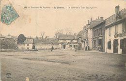 CPA 64 Pyrénées Atlantiques Environs Bayonne Le Boucau La Place Et La Tour Des Signaux Charcuterie Camouseigt Epicerie - Boucau