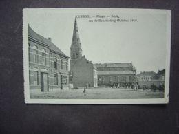 KUURNE - Plaats - Kerk - Na De Beschietting Oktober 1918 - Kuurne