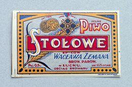 Rare Ancienne Étiquette Bière Brasserie Pologne Av. 1939 Bieretiketten Beer Label - Birra