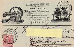 Cartolina Postale Pubblicitaria  - Viaggiata - Sent /  Lanzerotti - Azienda Agricola -  Catania ( Come Da Foto ) - Publicité