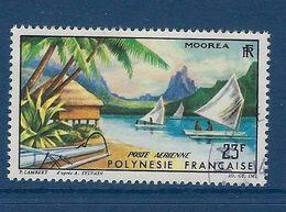 """Polynésie Aerien YT 9 (PA) """" Paysage De Moorea """" 1964 Oblitéré - Poste Aérienne"""