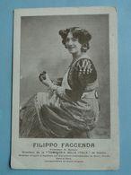 """NAPLES -- Compagnia """"Bella Italia"""" - Directeur Filippo Faccenda, Professeur De Musique - Napoli (Naples)"""