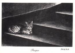 """CPM - CHAT - Illustration Francine DANCARVILLE - """"Prosper"""" - Edition CLM Paris - Cats"""