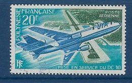 """Polynésie Aerien YT 74 (PA) """" DC10 """" 1973 Oblitéré - Poste Aérienne"""