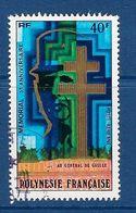 """Polynésie Aerien YT 123 (PA) """" Général De Gaulle """" 1977 Oblitéré - Poste Aérienne"""