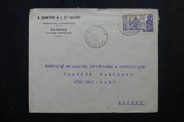 GUYANE - Enveloppe Commerciale De Cayenne Pour La Suisse En 1939,  Affranchissement Plaisant - L 63450 - Guyane Française (1886-1949)