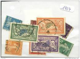 France  Années Completes (o) 1907 (9 Timbres) - ....-1939