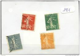 France  Années Completes (o) 1921 (4 Timbres) - ....-1939