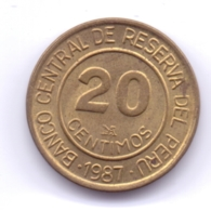 PERU 1987: 20 Centimos, KM 294 - Pérou