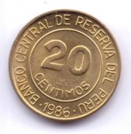 PERU 1986: 20 Centimos, KM 294 - Pérou
