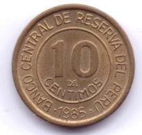 PERU 1985: 10 Centimos, KM 293 - Pérou