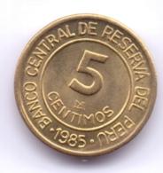 PERU 1985: 5 Centimos, KM 292 - Pérou