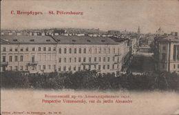 ST Pétersbourg  Perspective Voznessensky Vue Du Jardin Alexandre - Russland