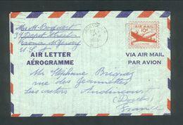 Aerogramme De Verona New Jersey Pour La France  1955 - 1941-60