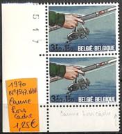 [837265]TB//**/Mnh-Belgique 1970 - N° 1547-VAR, Canne Hors Cadre , Pêche - Neufs