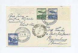 1936 3.Reich Zeppelinphotokarte Bordpost Der 6. Südamerikafahrt Von LZ 127 Passagierpost An Crew A. Thasler Sieger 351A - Covers & Documents