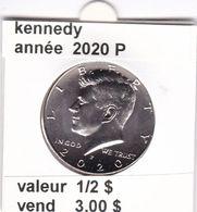 Pieces 1/2 Dollar 2020 P Kennedy - EDICIONES FEDERALES