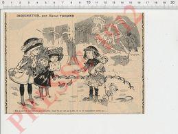 Presse 1912 Humour Mendicité Enfant Mendiant Mendiante Poupée Ancienne CHV35 - Old Paper