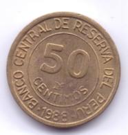 PERU 1988: 50 Centimos, KM 295 - Pérou