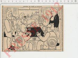 Presse 1912 Humour Jeu Joueurs De Cartes Manille Au Bistro CHV35 - Non Classés