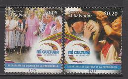 2015 El Salvador Culture Costumes Dancing Complete Set Of 2 MNH - El Salvador