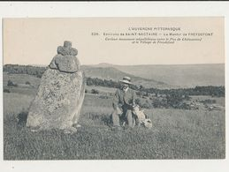 63 ENVIRONS DE SAINT NECTAIRE LE MENHIR DE FREYDEFONT CPA BON ETAT - Dolmen & Menhire