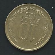 CHILE 2012: 10 Pesos,  Laupi13205 - Chili