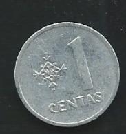 LITUANIA - 1 Centas 1991 ,  Laupi13207 - Lituanie