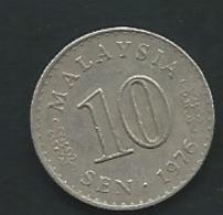 Malaysie   MALESIA 10 SEN 1976   Laupi 13211 - Malaysie