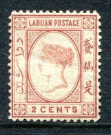 Labuan 1885-86 Queen Victoria - Wmk. Crown CA - 2c Rose-red HM (SG 30) - Nordborneo (...-1963)