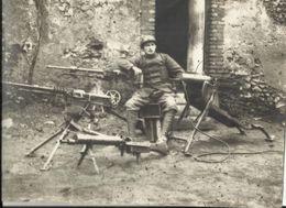Militaria - Photo 18 X 13 Cm - Mitrailleuses Madsen, Hotchkiss, Maxim - Guerre 1914-1918 - Matériel