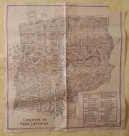ANCIEN PLAN Du CIMETIERE DU PERE LACHAISE - Cartes Topographiques