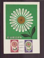 """France, Carte Maximum Du 12 Septembre 1964 à Paris """" Europa """" - Cartes-Maximum"""