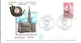 FDC 1973 EUROPA - 1970-1979