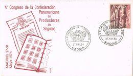 36745. Carta MADRID 1974. Congreso Confederacion Productores De Seguros - 1931-Hoy: 2ª República - ... Juan Carlos I