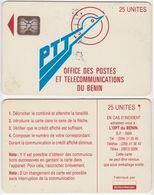6/ Benin; P1. PTT Logo, 25 Ut.,SC5 Afnor, CN C49100930 - Bénin