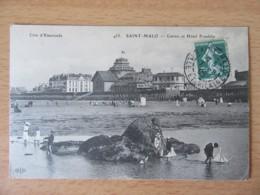Saint-Malo N°455 - Casino Et Hôtel Franklin - Carte Animée, Circulée En 1908 - Saint Malo