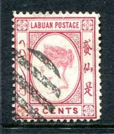 Labuan 1892-93 Queen Victoria - No Wmk. - 2c Rose-lake Used (SG 39) - Nordborneo (...-1963)