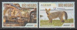 2016 Uruguay Rio Negro Fox Complete Set Of 2 Stamps MNH - Uruguay