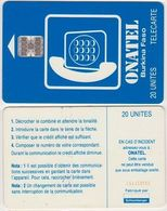 14/ Burkina Fasso; P13. Blue - Logo, 20 Ut.; SC7, CN C5A153783 - Burkina Faso