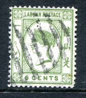 Labuan 1894 Queen Victoria - No Wmk. - 6c Bright Green CTO Used (SG 52) - Nordborneo (...-1963)