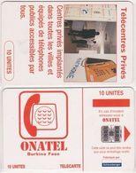 15/ Burkina Fasso; P17. Telephone Centers, 10 Ut.; SC7, CN White - Burkina Faso