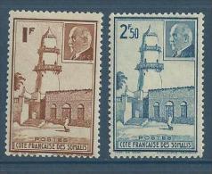 "Cote Somalis YT 191 & 192 "" Pétain "" 1941 Neuf* - Neufs"