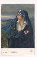 COPIE DE TABLEAU FEMME DE LA CROIX ROUGE - DEVOUEMENT - Guerre Européenne 1914-1915 - - Croix-Rouge