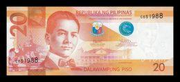 Filipinas Philippines 20 Piso 2017 F Pick 206b SC UNC - Philippines