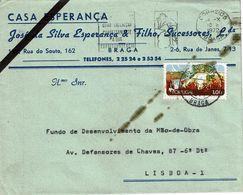 Braga , 1972 , Commercial Cover , CASA ESPERANÇA  ,  José Silva Esperança & Filho Sucessores , Nature Stamp - 1910-... République