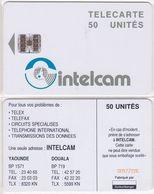 28/ Cameroon; P15. White - Logo, 50 Ut., SC7, CN Yellow - Cameroon