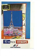 26112 - Roger Bezombes Vie Du Monde France Europe Edition Air France (format 10X15) - Autres Illustrateurs