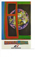 26113 - Roger Bezombes Vie Du Monde Merveilles De La Terre Edition Air France (format 10X15) - Autres Illustrateurs